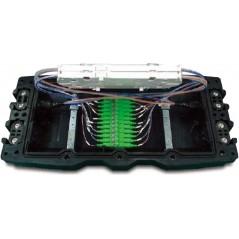 Boitier d'épissurage Optique 24 FO avec support 24 SC (cassettes et accessoires) OPTICUBE Boitiers d'épissurage avec traversé...