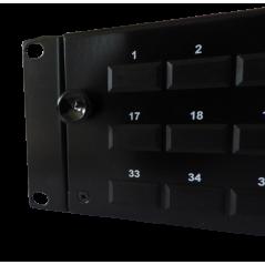 Tiroir optique 2 U coulissant vide, capacité 48 SC ou LC duplex, noir avec 1 pre FIBREOS Tiroirs optiques vides 54,14€Tiroir...