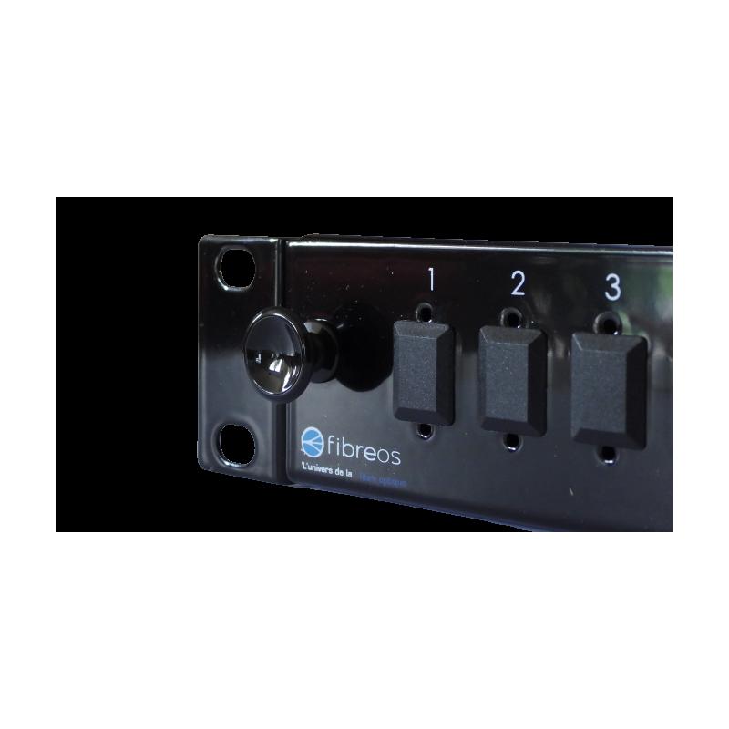 Tiroir optique coulissant vide, capacité 24 SC simplex ou LC duplex, noir +PE FIBREOS Tiroirs optiques vides 32,46€Tiroirs o...
