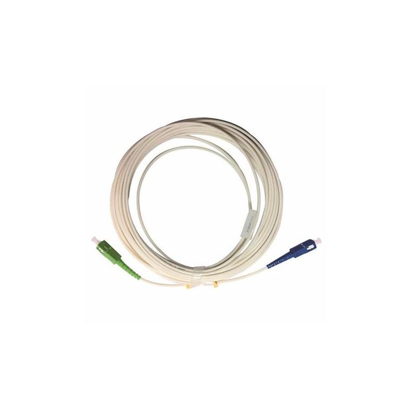 Jarretière optique mono G657 A SCUPC/SCAPC simplex gaine blanche renforcée 2 m  CORDONS FIBRE 7,21€CORDONS FIBRE
