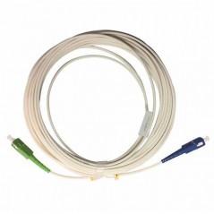 Jarretière optique mono G657 A SCUPC/SCAPC simplex gaine blanche renforcée 10 m  CORDONS FIBRE 11,30€CORDONS FIBRE