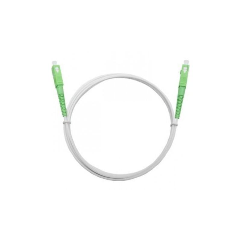Jarretière optique mono G657 A SCAPC/SCAPC simplex gaine blanche renforcée 2 m  CORDONS FIBRE 8,63€CORDONS FIBRE