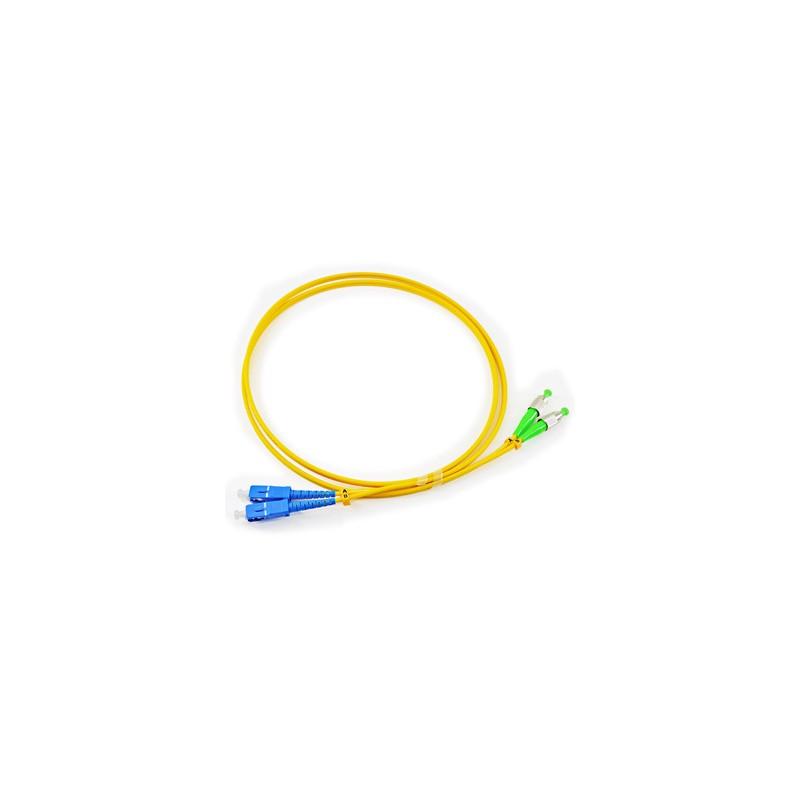 Jarretière optique mono FCAPC/SCPC duplex Zipp jaune  Cordons mono duplex 11,21€Cordons mono duplex