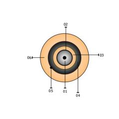Câble unitube protection rongeurs mèches de verre BI GAINE LSZH G657 A2 SM 2FO OPTRAL Cables optiques monomodes 0,57€Cables ...