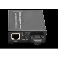 Convertisseur média 10/100/1000 Base Multimode Duplex SC 550 m POE 3af 15,4w FIBREOS Convertisseurs de média non managés 211,...