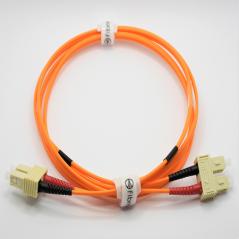 Jarretière optique 62.5/125 OM1 SC/SC duplex Zipp, orange, LONGUEUR A CHOISIR  Cordons OM1 7,43€Cordons OM1