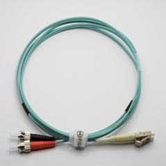 Jarretière optique 50/125 OM3 LC/ST duplex Zipp, turquoise, LONGUEUR A CHOISIR  Cordons OM3 7,90€Cordons OM3