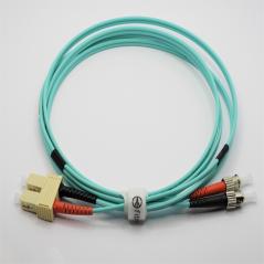 Jarretière optique 50/125 OM3 SC/ST duplex Zipp, turquoise, LONGUEUR A CHOISIR  Cordons OM3 7,73€Cordons OM3
