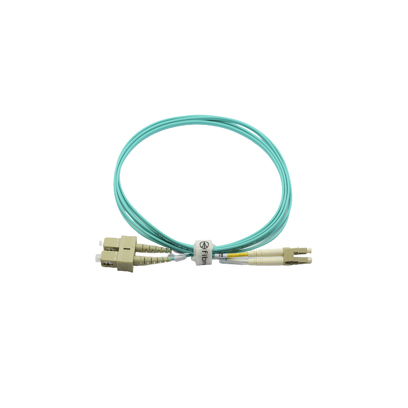 Jarretière optique 50/125 OM3 LC/SC duplex Zipp, turquoise, LONGUEUR A CHOISIR  Cordons OM3 7,90€Cordons OM3