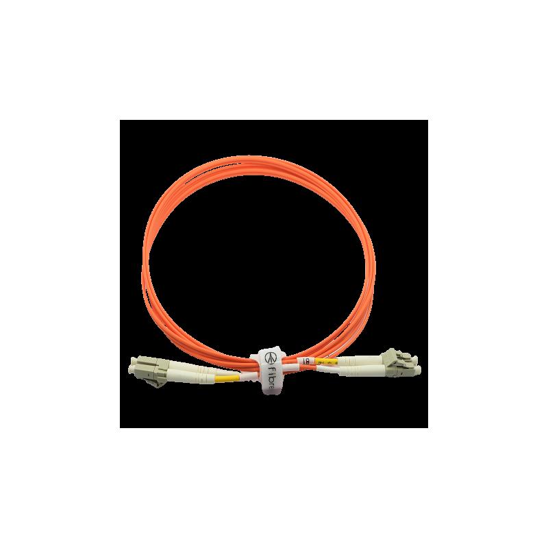 Jarretière optique 50/125 OM2 LC/LC duplex Zipp, orange LONGUEUR A CHOISIR  Cordons OM2 7,76€Cordons OM2