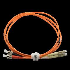 Jarretière optique 50/125 OM2 LC/ST duplex Zipp, orange, LONGUEUR A CHOISIR  Cordons OM2 7,59€Cordons OM2