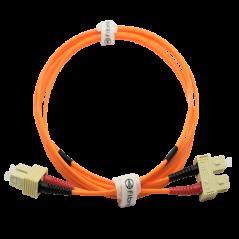 Jarretière optique 50/125 OM2 SC/SC duplex Zipp, orange, LONGUEUR A CHOISIR  Cordons OM2 7,43€Cordons OM2