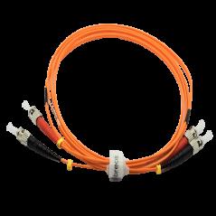 Jarretière optique 50/125 OM2 ST/ST duplex Zipp, orange, LONGUEUR A CHOISIR  Cordons OM2 7,43€Cordons OM2