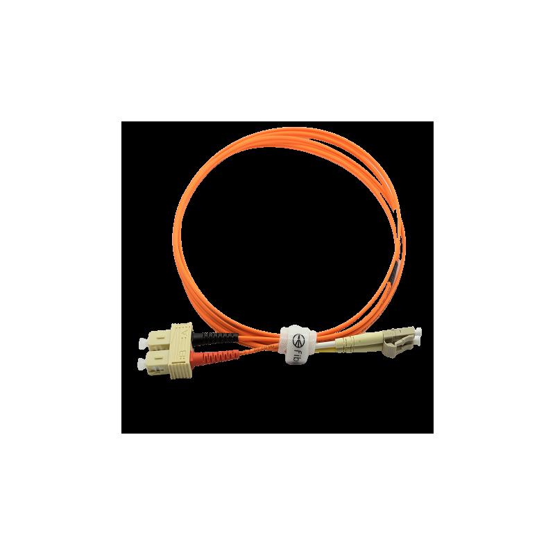 Jarretière optique 62,5/125 OM1 LC/SC duplex Zipp, orange, LONGUEUR A CHOISIR  Cordons OM1 7,59€Cordons OM1