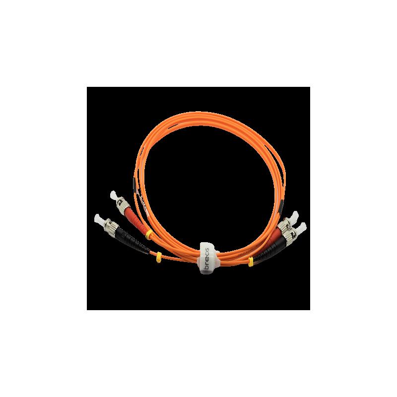 Jarretière optique 62.5/125 OM1 ST/ST duplex Zipp, orange, LONGUEUR A CHOISIR  Cordons OM1 7,43€Cordons OM1