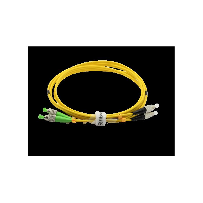 Jarretière optique mono FCAPC/FCPC duplex Zipp jaune  Cordons mono duplex 11,40€Cordons mono duplex