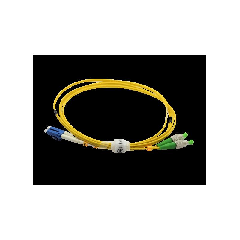 Jarretière optique mono FCAPC/LCPC duplex Zipp jaune  Cordons mono duplex 13,96€Cordons mono duplex