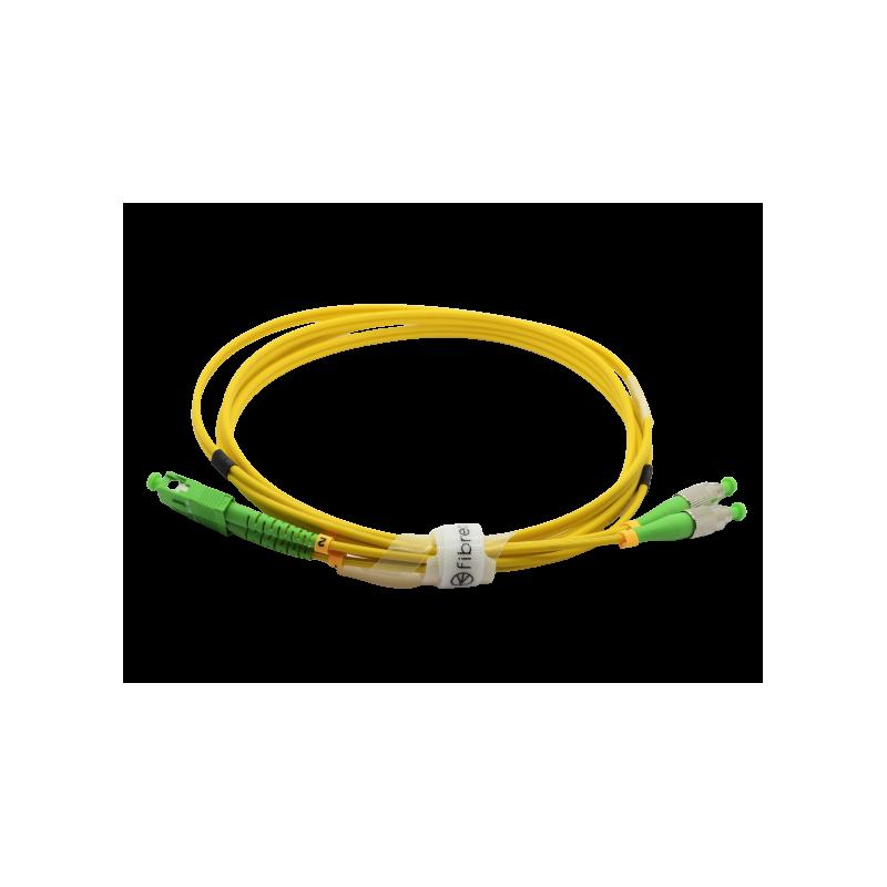 Jarretière optique mono FCAPC/SCAPC duplex Zipp jaune  Cordons mono duplex 12,79€Cordons mono duplex