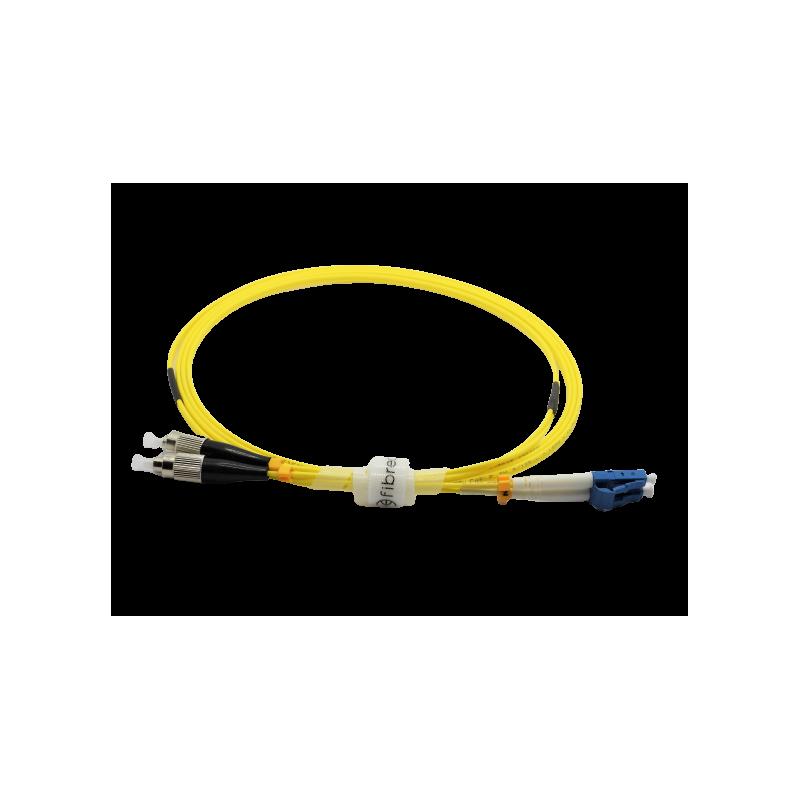 Jarretière optique mono FCPC/LCPC duplex Zipp jaune  Cordons mono duplex 12,29€Cordons mono duplex