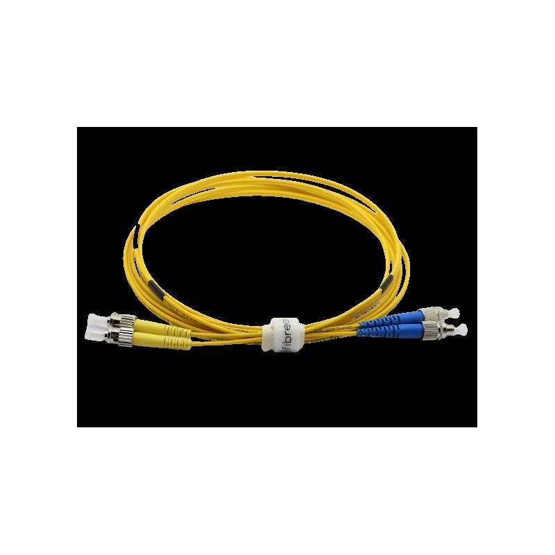 Jarretière optique mono FCPC/ST duplex Zipp jaune  Cordons mono duplex 9,45€Cordons mono duplex