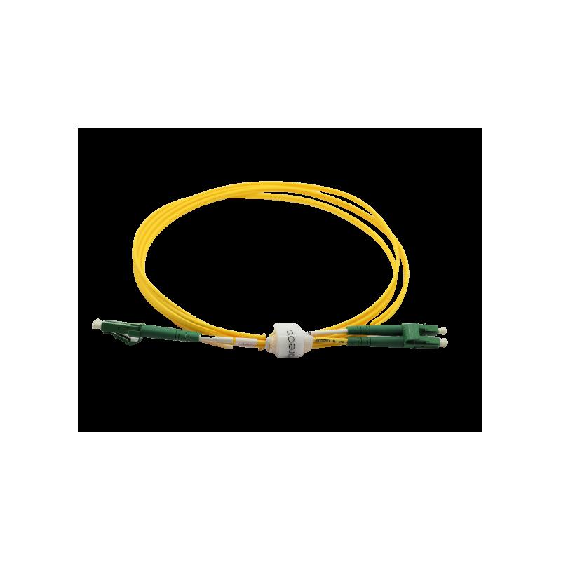 Jarretière optique mono LCAPC/LCAPC duplex Zipp jaune  Cordons mono duplex 17,97€Cordons mono duplex