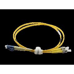 Jarretière optique mono LCPC/ST duplex Zipp jaune  Cordons mono duplex 8,88€Cordons mono duplex
