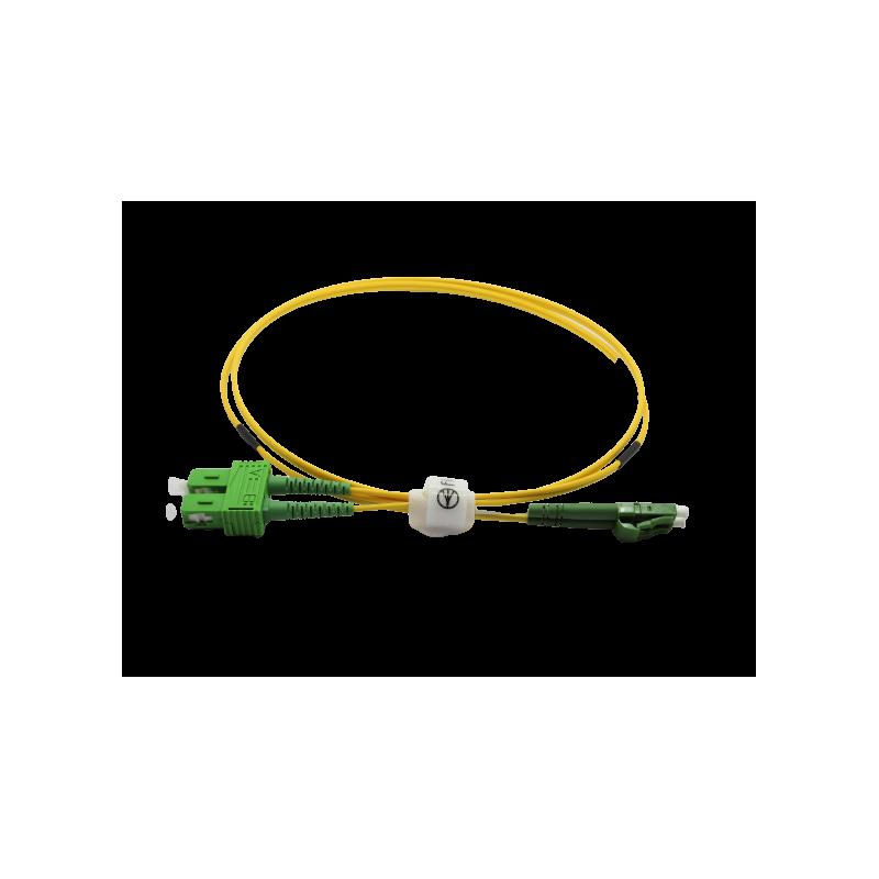 Jarretière optique mono LCAPC/SCAPC duplex Zipp jaune  Cordons mono duplex 15,02€Cordons mono duplex