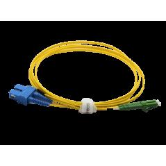 Jarretière optique mono LCAPC/SCPC duplex Zipp jaune  Cordons mono duplex 13,18€Cordons mono duplex