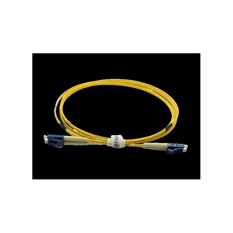 Jarretière optique mono LCPC/LCPC duplex Zipp jaune  Cordons mono duplex 8,98€Cordons mono duplex
