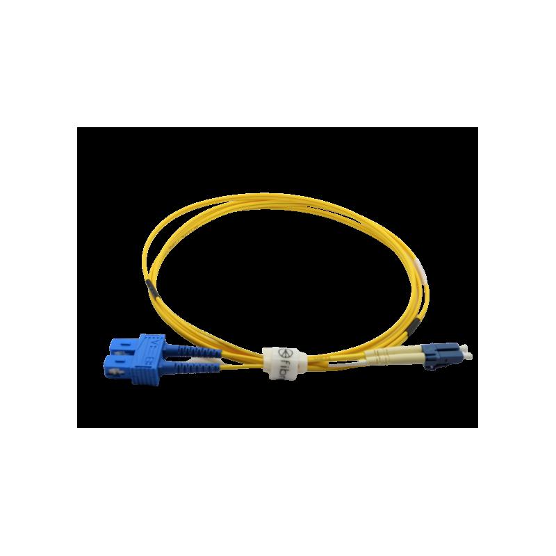 Jarretière optique mono LCPC/SCPC duplex Zipp jaune  Cordons mono duplex 11,45€Cordons mono duplex