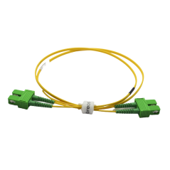 Jarretière optique mono SCAPC/SCAPC duplex Zipp jaune  Cordons mono duplex 12,31€Cordons mono duplex