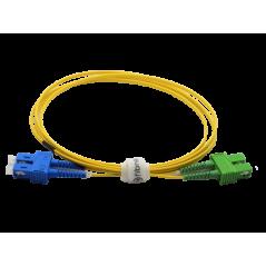 Jarretière optique mono SCAPC/SCPC duplex Zipp jaune  Cordons mono duplex 10,62€Cordons mono duplex