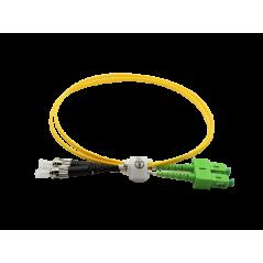 Jarretière optique mono SCAPC/ST duplex Zipp jaune  Cordons mono duplex 10,62€Cordons mono duplex