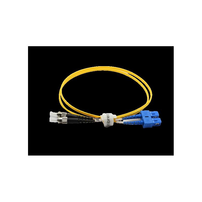 Jarretière optique mono SCPC/ST duplex Zipp jaune  Cordons mono duplex 8,67€Cordons mono duplex