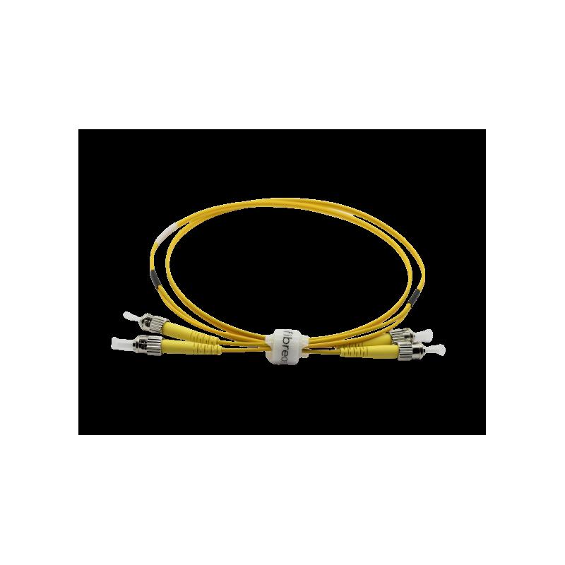 Jarretière optique mono ST/ST duplex Zipp jaune  Cordons mono duplex 8,67€Cordons mono duplex