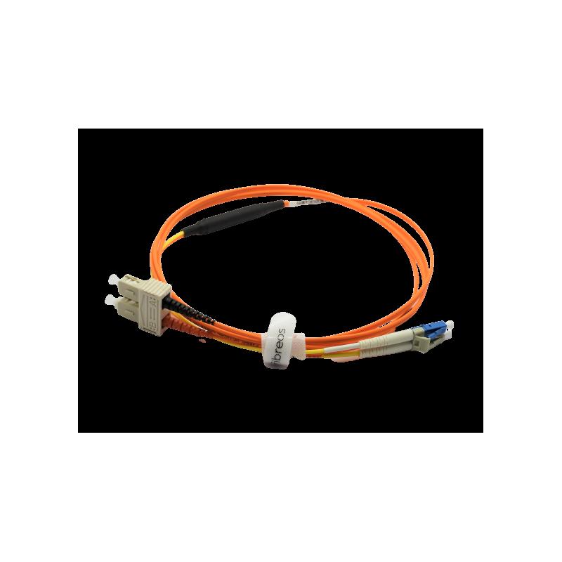 Jarretière optique mode conditionning OM1 62,5 LC/SC monomode en LC 2MT  Cordons spéciaux 54,68€Cordons spéciaux