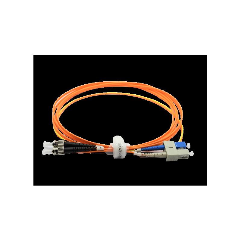 Jarretière optique mode conditionning OM1 62,5 ST/SC monomode en SC 3MT  Cordons spéciaux 54,68€Cordons spéciaux