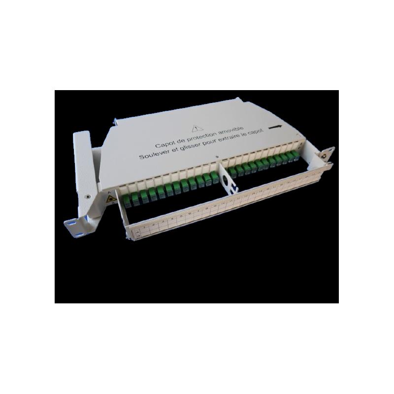 Tiroir optique pivotant équipé de 24 traversées et 24 pigtails SCAPC G657  Tiroirs optiques équipés 158,36€Tiroirs optiques ...