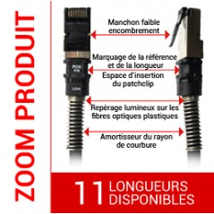 Cordon cuivre Patchsee RJ 45 FTP Cat. 6a 10Gbps LONGUEUR AU CHOIX PATCHSEE Cordons RJ45 PATCHSEE 5,48€Cordons RJ45 PATCHSEE