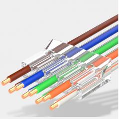 Plug Mâle traversant FTP (blindé) AWG 23 à sertir (X50)  Noyaux RJ45 54,00€Noyaux RJ45