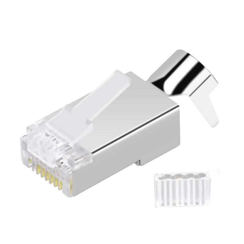 Plug Mâle FTP (blindé) AWG 23 à sertir (X50)  Noyaux RJ45 54,00€Noyaux RJ45