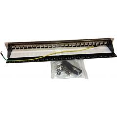 19 Panneau vide 24xRJ45 Noir (avec terre) FIBREOS Panneaux RJ45 et téléphoniques 21,99€Panneaux RJ45 et téléphoniques