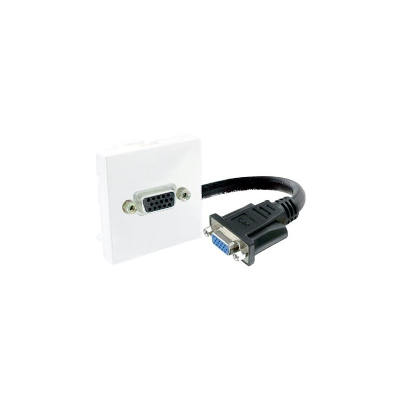 Plastron 45x45 HD15- VGA F/F avec câble 0.20m  Plastrons RJ45 et accessoires 15,62€Plastrons RJ45 et accessoires