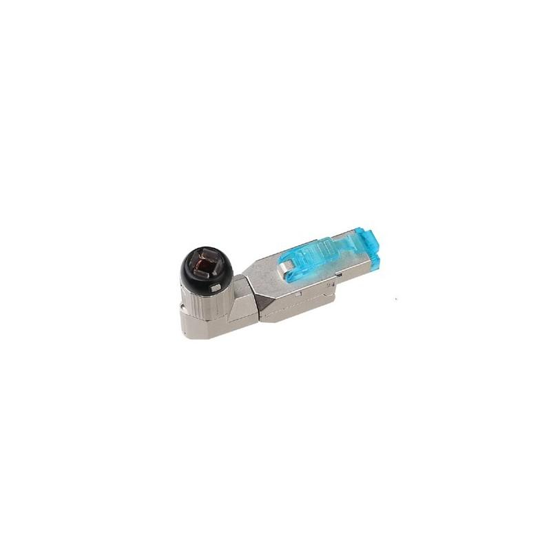 Plug mâle Cat 6a FTP sans outil en angle 90° FIBREOS Noyaux RJ45 10,80€Noyaux RJ45