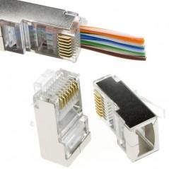 Plug Mâle traversant FTP (blindé) AWG 26 a sertir (X50) FIBREOS Noyaux RJ45 30,60€Noyaux RJ45