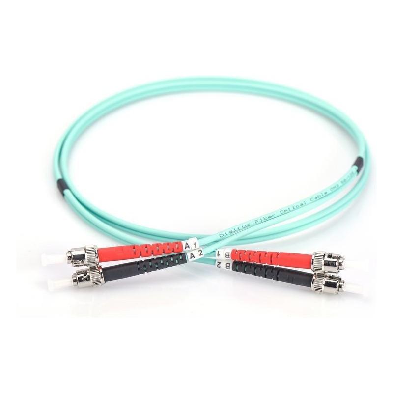 Jarretière optique 50/125 OM3 ST/ST duplex Zipp, turquoise, LONGUEUR A CHOISIR  Cordons OM3 7,73€Cordons OM3