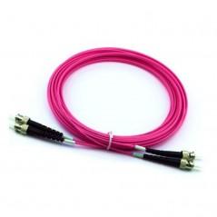 Jarretière optique 50/125 OM4 ST/ST duplex Zipp, violet , LONGUEUR A CHOISIR  Cordons OM4 8,54€Cordons OM4